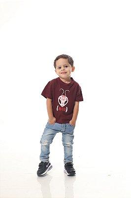 Camiseta Infantil Bordo