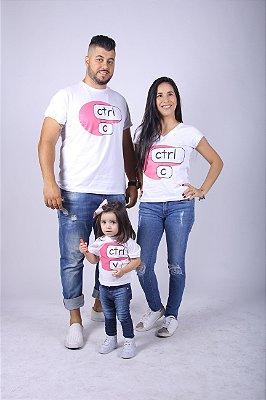 Kit Camiseta Tais Pais Tais Filhos Ctrl-C Ctrl-V