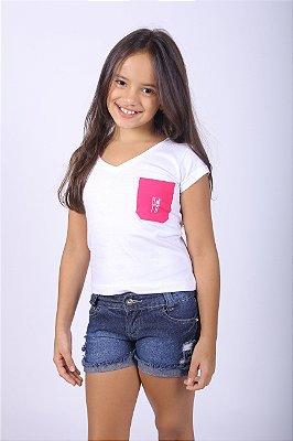 Camiseta Infantil Branca