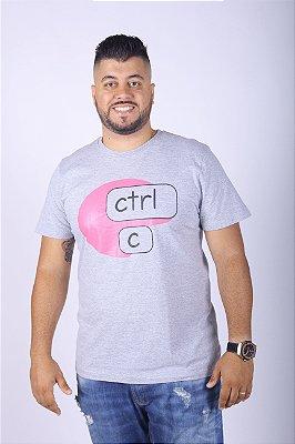 Camiseta Ctrl-C Cinza