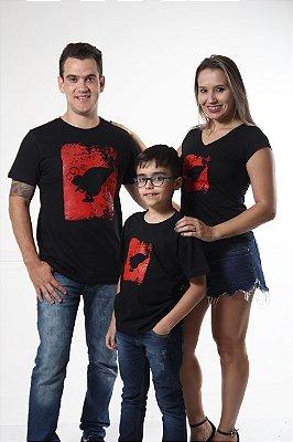 PAIS E FILHOS > Kit 3 Camisetas Pretas estampa Formiga [Coleção Família]