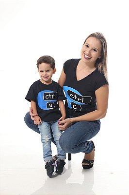 MÃE E FILHO > Kit Camisetas Pretas CTRL-C & CTRL-V [Coleção Tal Mãe Tal Filho]