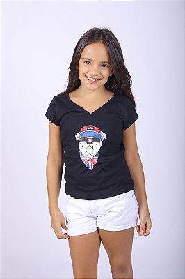 Camiseta Infantil Preta