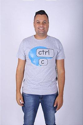 Camiseta Cinza CTRL-C