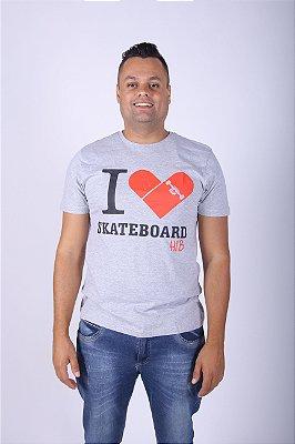 Camiseta Cinza Skate