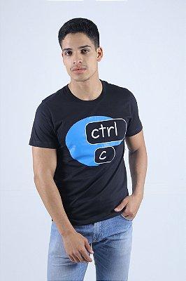 Camiseta CTRL-C Preta