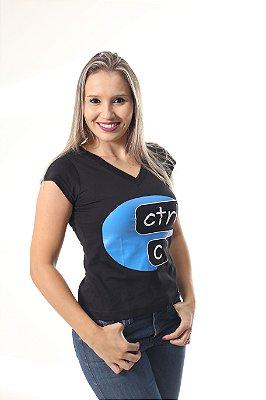 Camiseta Feminina CTRL-C Preta