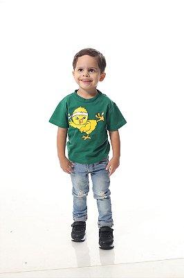 Camiseta Infantil Verde Pintinho