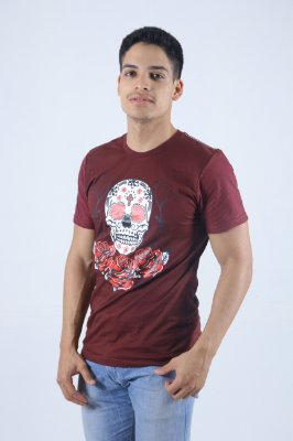 Camiseta Vinho Caveira Mexicana
