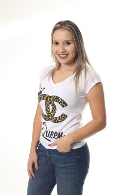Camiseta Feminina Rainha