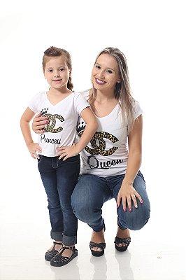 MÃE E FILHA > Kit 02 Camisetas Rainha e Princesa [Coleção Tal Mãe Tal Filha]