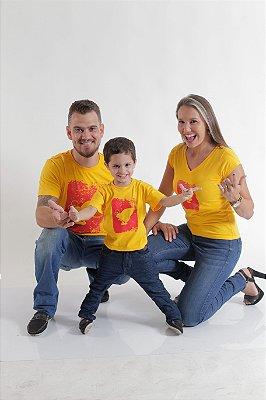 PAIS E FILHOS > Kit 3 peças Camisetas Amarelas [Coleção Família]