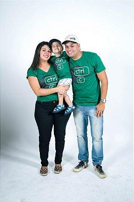 Mãe e Filho > Kit 02 Camisetas CTRL C - CTRL V - Verdes [Coleção Tal Mãe Tal Filha]