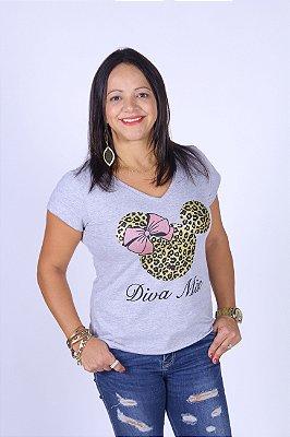 Camiseta Feminina Diva Cinza