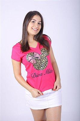 Camiseta Feminina Diva Pink