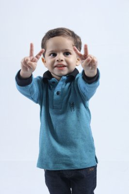 Camisa Polo Infantil Verde Manga Longa