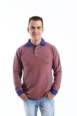 Camisa Polo Laranja Manga Longa