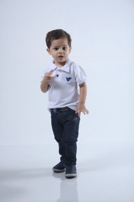 Camisa Polo Infantil Masculina Branca