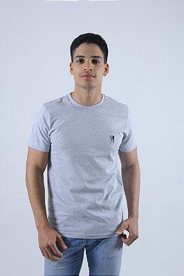 Camiseta Cinza Bordada