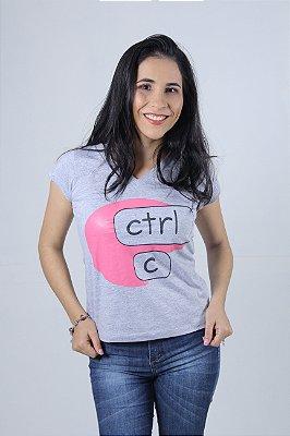 Camiseta Feminina CTRL-C