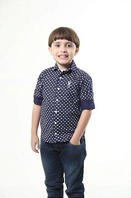 Camisa Social Principe Azul Infantil