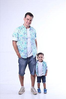 PAI E FILHO > Camisas Social Tropical [Coleção Tal Pai Tal Filho]