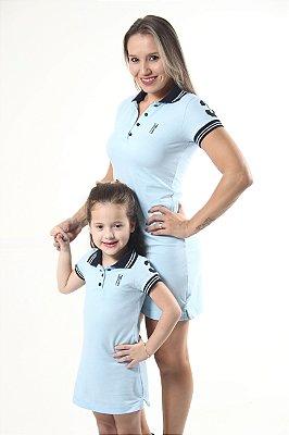 MÃE E FILHA > Kit 02 Vestidos Polo Azul Nobreza [Coleção Tal Mãe Tal Filha]