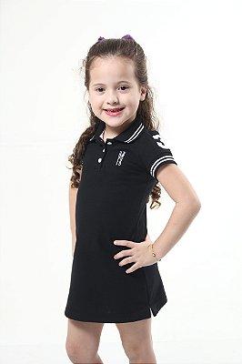 Vestido Polo Preto Elegância Infantil
