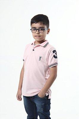 Camisa Polo Infantil Rosa Amor