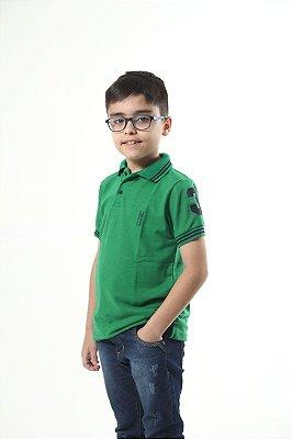 Camisa Polo Infantil Verde Esperança