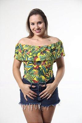 Body Feminino Adulto Ciganinha Brasil