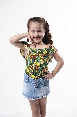 Body Feminino Infantil Ciganinha Brasil