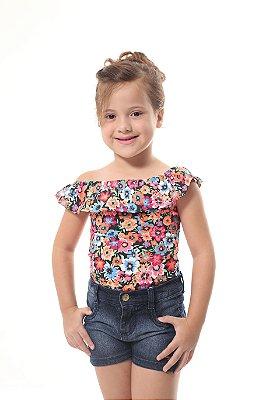 Body Feminino Infantil Ciganinha Verão