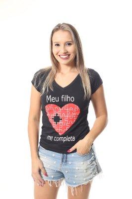 Camiseta Feminina Meu Filho Me Completa