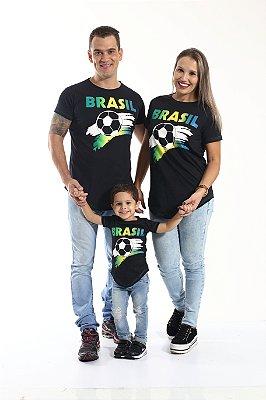 PAIS E FILHOS > Kit 3 peças Camisetas Long Brasil [Coleção Família]