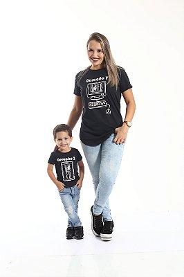 MÃE E FILHO > Kit 02 Camisetas Long Geração Z e Y [Coleção Tal Mãe Tal Filho]
