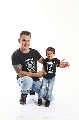 PAI E FILHO > Kit 02 Camisetas Long Geração Y e Z [Coleção Tal Pai Tal Filho]