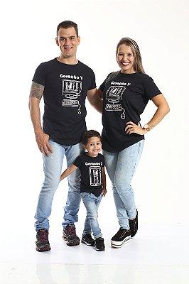 PAIS E FILHOS > Kit 3 peças Camisetas Long Gerações [Coleção Família]