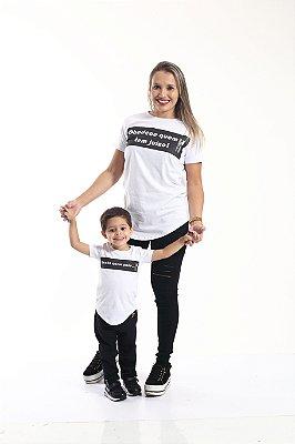MÃE E FILHO > Kit 02 Camisetas Long Manda Quem Pode [Coleção Tal Mãe Tal Filho]