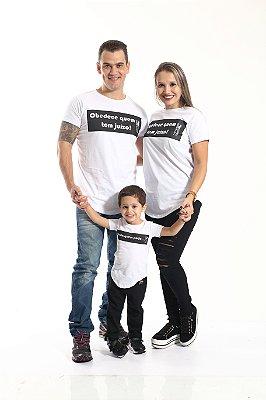 PAIS E FILHOS > Kit 3 peças Camisetas Long Manda Quem Pode [Coleção Família]