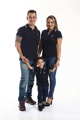 PAIS E FILHOS > Kit 3 peças Camisas Polo Azul Marinho Céu [Coleção Família]