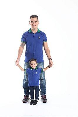 PAI E FILHO > Kit 02 Camisas Polo Azul Royal  [Coleção Tal Pai Tal Filho]