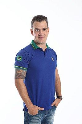 Camisa Polo Azul Copa do Mundo