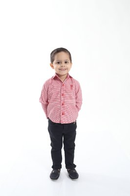 Camisa Social Jackie Chan Vermelha Infantil