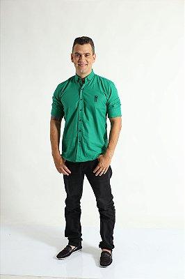 Camisa Social Green Day Verde Adulta