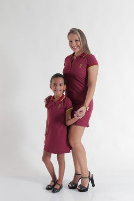 MÃE E FILHA > Kit 02 Vestidos Adulto e Infantil ou Body Bordo [Coleção Tal Mãe Tal Filha]