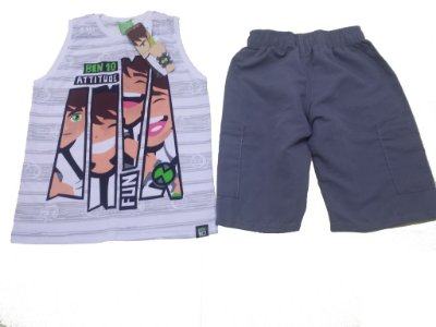 Conjunto Camiseta Regata e Bermuda Ben 10 - Malwee