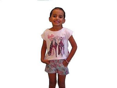 Conjunto Blusa e Shorts Barbie