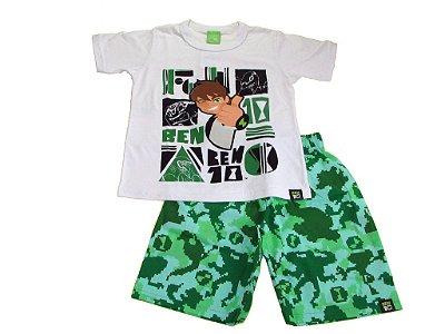 Conjunto Camiseta e Bermuda Ben 10 Verde - Malwee