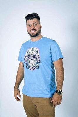 Camiseta Caveira Mexicana com Âncora